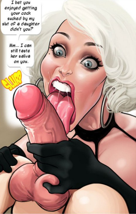 Hardcore comic with a wicked step mom sucking dick