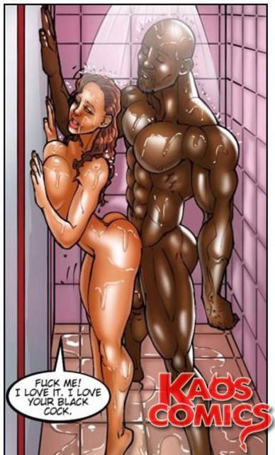 Interracial porn toons